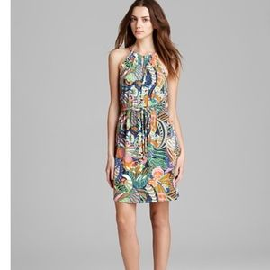 Laundry any Shelly Segal Floral Dress w Gold Neck